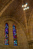 Stained Glass Windows in a Sandstone Cathedral