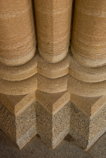 Column feet: St John's Anglican cathedral, Brisbane