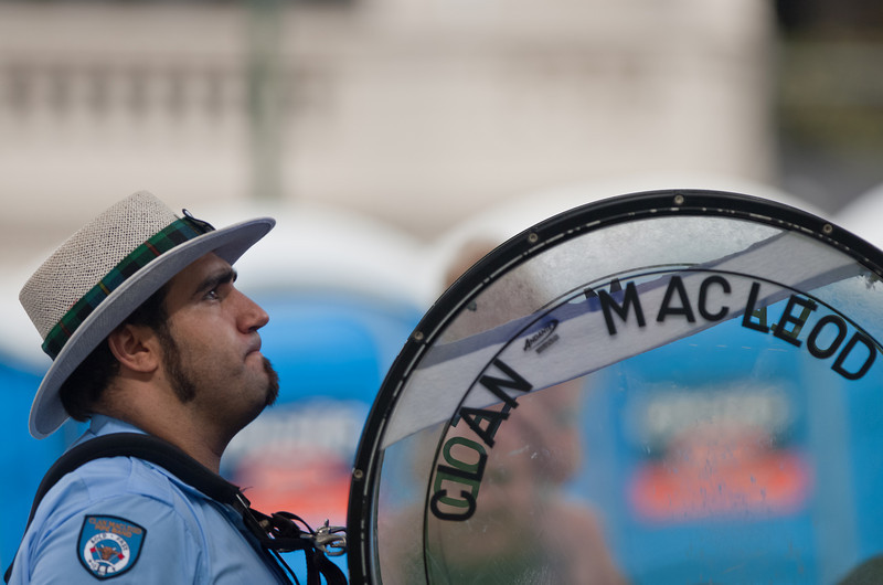 Australia Day in Sydney: Clan MacLeod Pipe Band - Bass Drummer