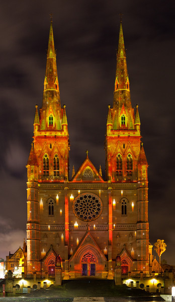 Vivid Sydney 2010: St Mary's Cathedral