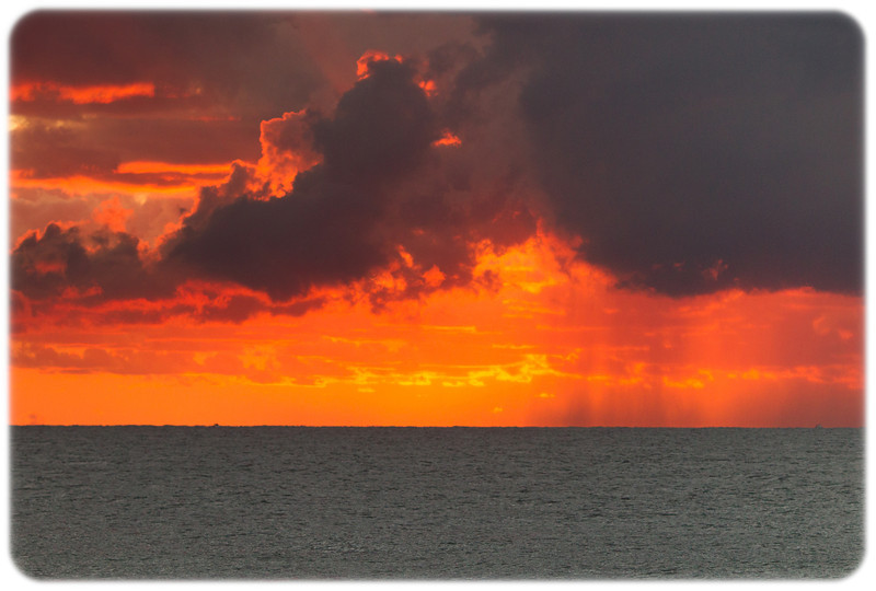 Sunrise Storm on the Pacific
