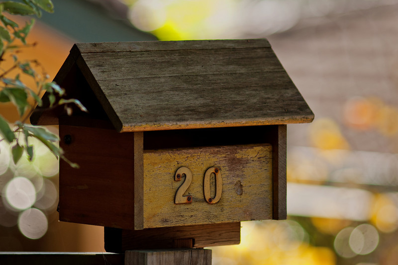 A wooden Letterbox