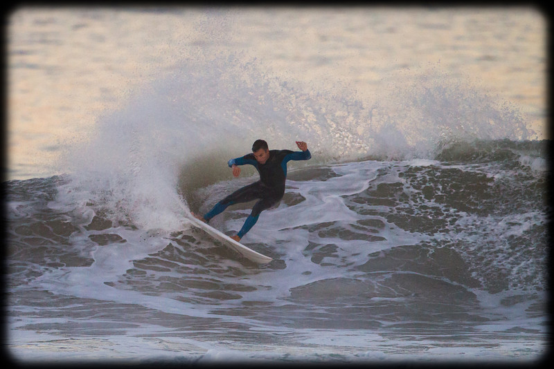 Surfing at Dusk