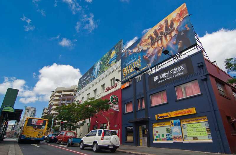 A colourful part of Brisbane's Fortitude Valley