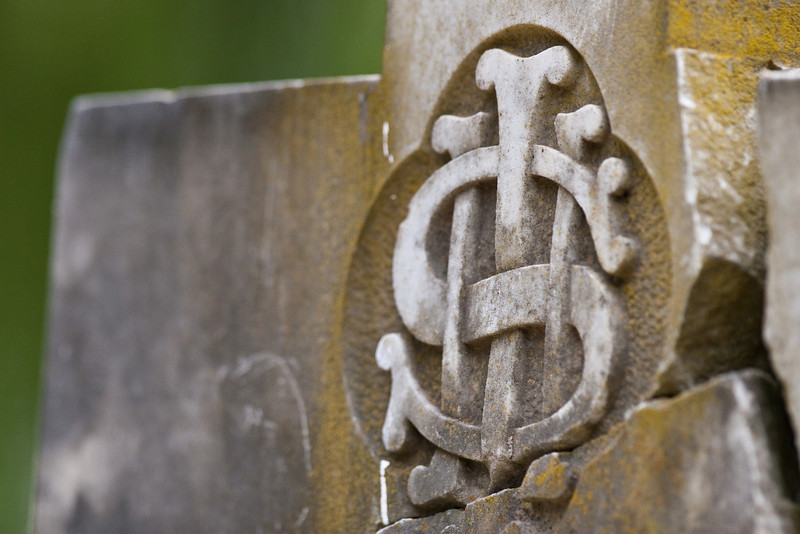 An old grave stone in the cemetry of St John's Anglican Church, Camden, NSW