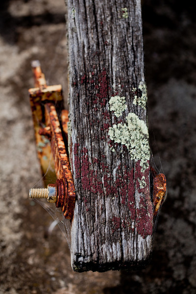 Old Beam and Rusty Bolts