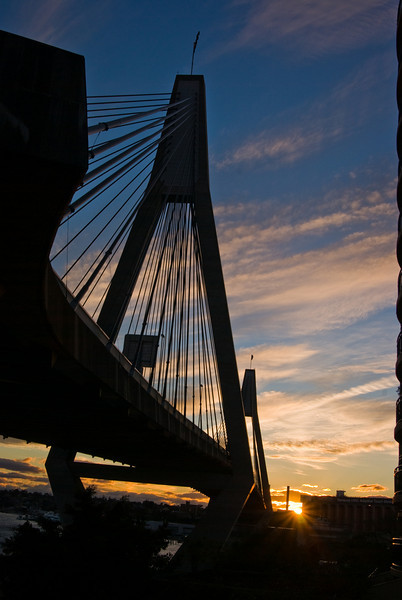 Anzac Bridge at Sunset in Winter