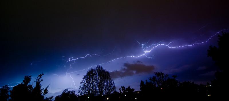 Lightning over the Northern Suburbs of Brisbane, Australia