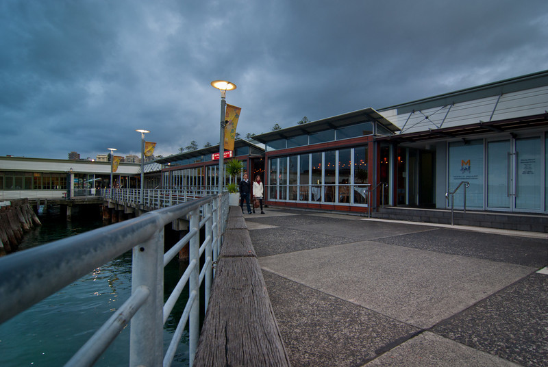 Manly Wharf and Manly Phoenix Restaurant on a Gloomy Evening