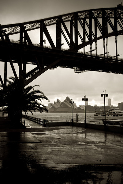 Gloomy Day Under the Harbour Bridge