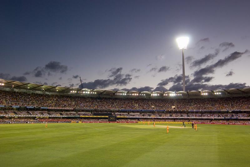20/20 Cricket at the Gabba at Sunset
