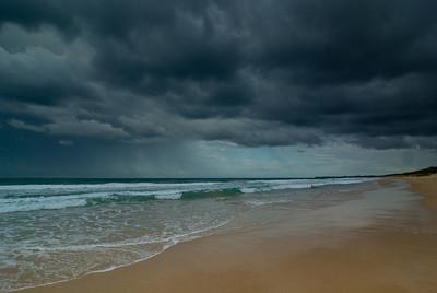 Heavy Clouds ahead of a Storm at Warana Beach