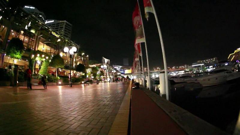 An Experimental Fisheye Video at Darling Harbour