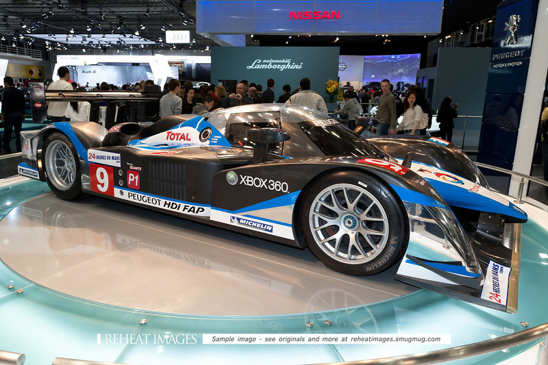 Peugeot 908 HDi race car at Sydney International Motorshow.