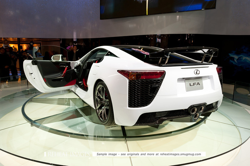 Lexus' new LF-A supercar at the Sydney Motorshow.