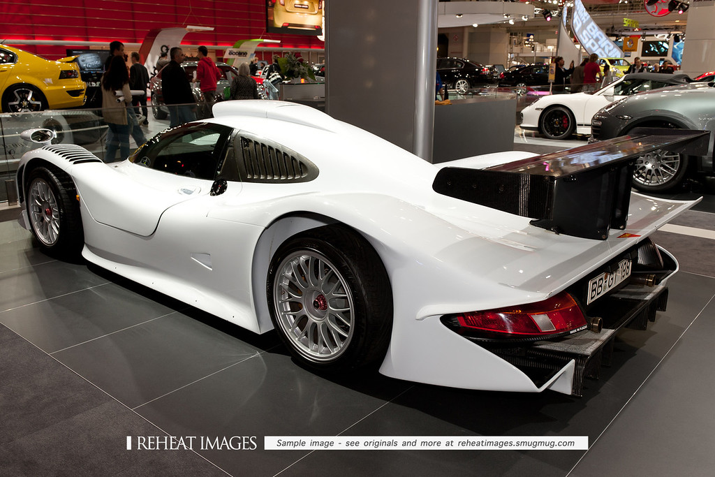 1998 Porsche 911 GT1 Straßenversion, the only one ever made, registered in Böblingen, Baden-Württemberg. The car retained styling cues of the 996 model series 911, such as the basic glass-house form, along with the tail-lights and headlights, although these elements were exaggerated. While attempting to retain cues with the new 996 911 of 1998, the form was mostly based on Norbert Singer's aerodynamic requirements. Unlike previous GT1 models in 1996 and 1997, this car featured a full carbon-monocoque construction as an answer to the exotic million dollar mid-engined BMW V12 power McLaren F1 GTRs, which also used carbon construction. Unlike its rivals on the race-track, the GT1 remains a turn-key race-car.