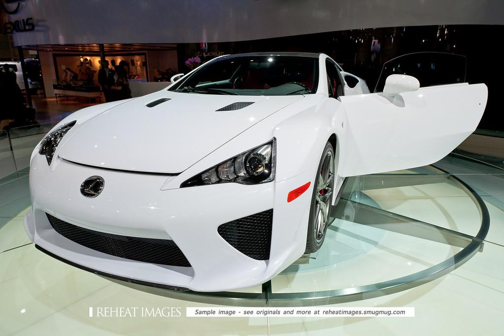 Lexus' new LF-A supercar at the Sydney Motorshow.