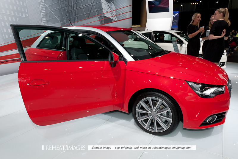 Audi's new A1 small car at the Sydney International Motorshow.