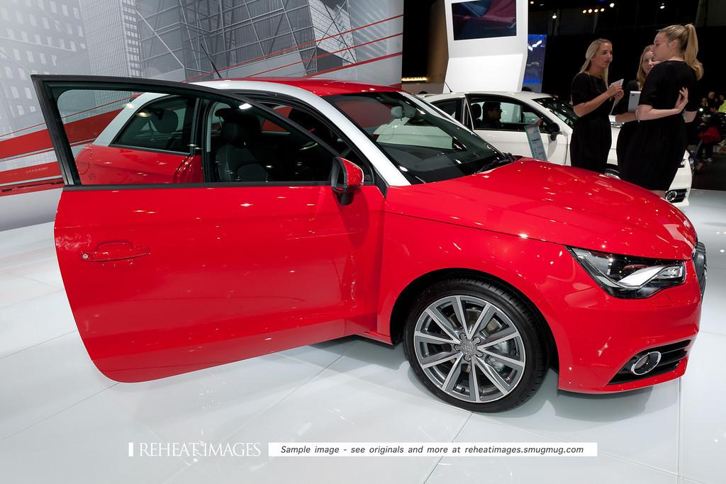 Audi's new A1 small car at the Sydney International Motorshow.