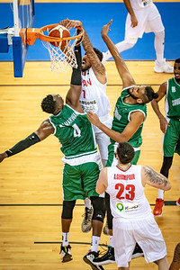 7 Mohammad Hassanzadeh (Iran) - Iran v Saudi Arabia, FIBA Asia Cup 2021 Qualifiers at Al-Gharafa Sports Club Multi-Purpose Hall (Doha, Qatar), 1st Round, 28 November, 2020. Photo by Tom Kirkwood/SportDXB`