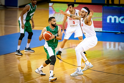 Action during the FIBA Asia Cup 2021 Qualifiers at Al-Gharafa Sports Club Multi-Purpose Hall, November 28, 2020 in Doha, Qatar. Photo by Tom Kirkwood/SportDXB