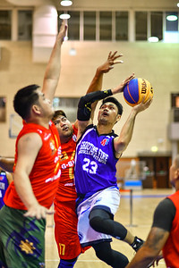 3 Stars v's Pampangavis during a 3x3 Beat the Heat VIII match at Qatar Basketball Federation Sports Complex 30th August 2019. Photo by Tom Kirkwood