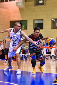Bolts v's Combine in action during 3x3 Beat the Heat VIII Quarter Final 1 at Qatar Basketball Federation Sports Complex 30th August 2019. Photo by Tom Kirkwood
