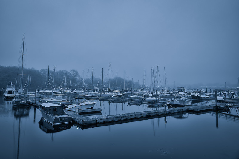 Foggy morning at the Marina