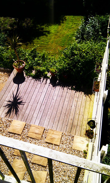 Deck - to be expanded and pots added :-)