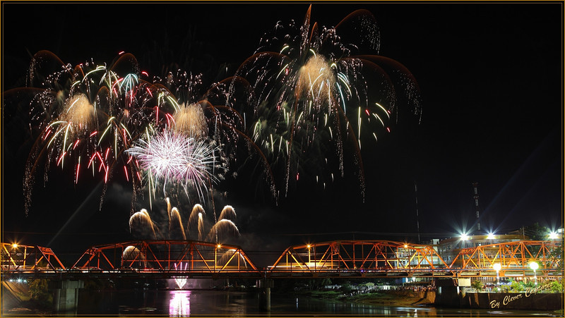 I was hoping to capture a busy image that was not overexposed due to the mass of explosions occurring. This is it!