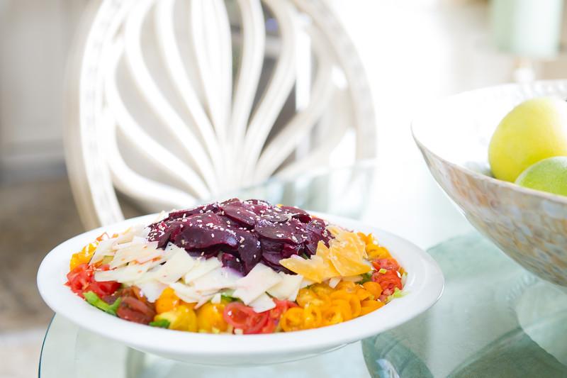 Taline's  veggie and cheese salad