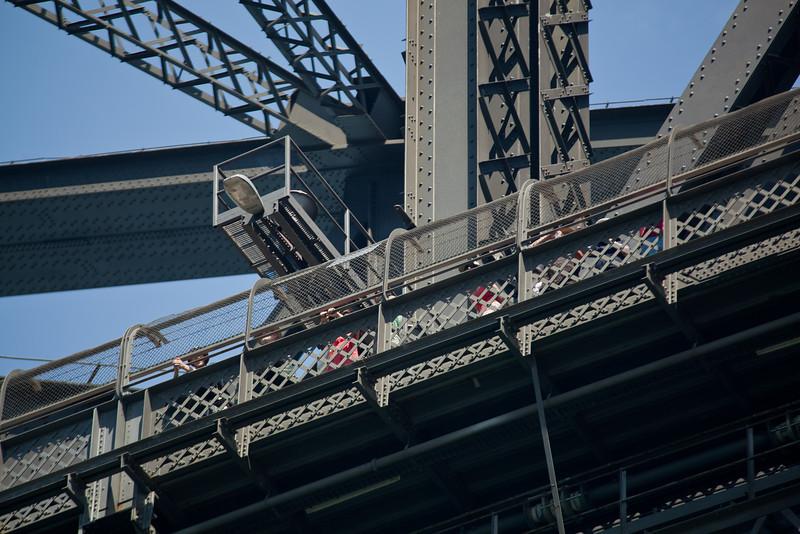 Spectators on Sydney Harbour Bridge