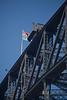 Flag on Sydney Harbour Bridge