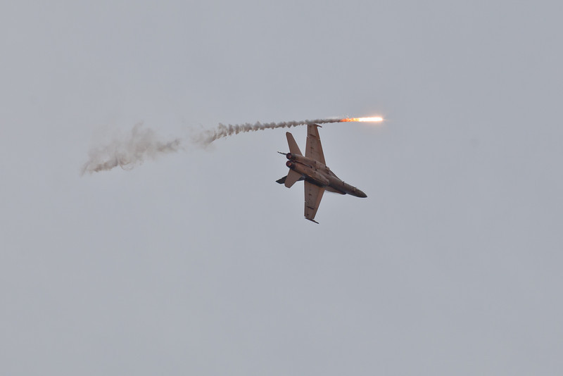McDonnell Douglas F/A-18A Hornet A21-4 and Flare