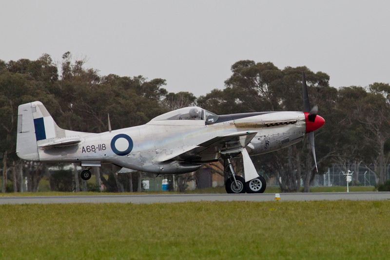 Commonwealth CA-18 Mustang 21 (P-51D) Taking Off (A68-118/VH-AGJ)