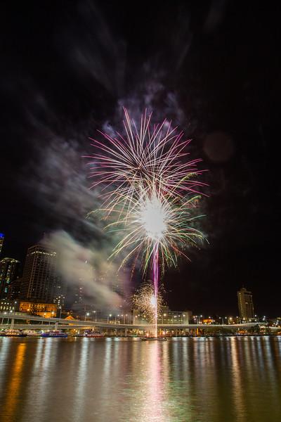Bringing in 2013 at Southbank, Brisbane