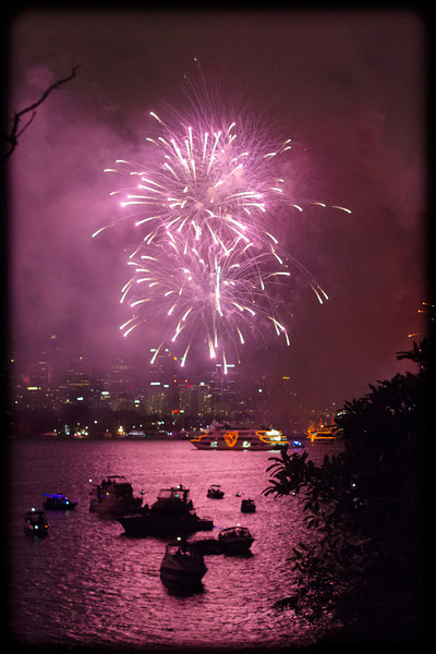 Bringing in 2014 at Bradley's Head, Sydney