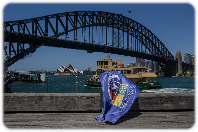 Follow the Wynberg Flag 175: Destination Sydney: Lavender Bay with Ferry, Harbour Bridge and Opera House