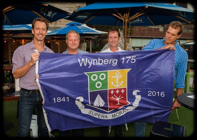 Follow the Wynberg Flag 175: Destination Sydney: Sean Kotthoff (1988), Andrew Tattersall (1988), Craig Kotthoff (1987) and John Rowberry (1987)