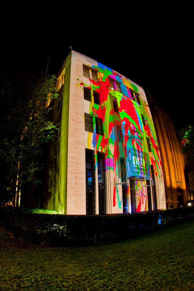 Vivid Festival: Interactive Paint Projection - Spinifex Group (Australia)
