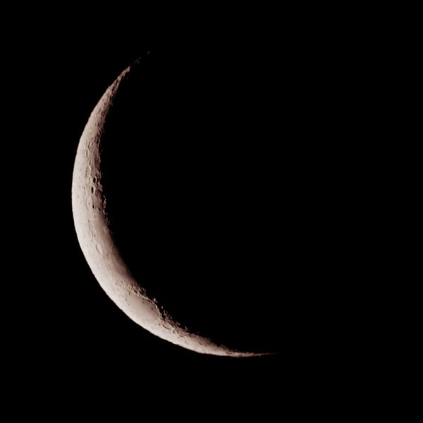 Waxing Crescent Moon from Sydney: 8 March 2011