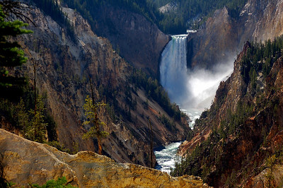 Yellowstone River from Artist`s Point