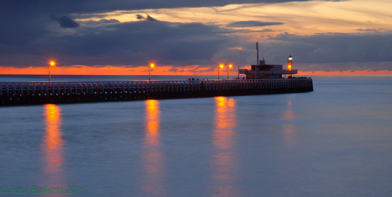 West-pier sunset