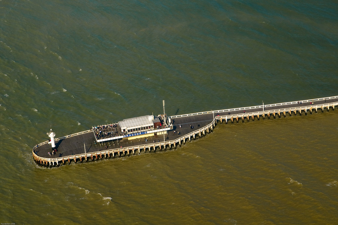 West-pier head from the air.