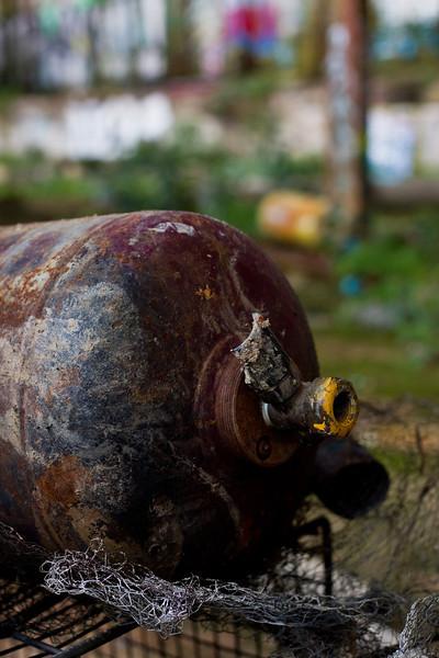 Glebe Tram Sheds: Burnt Gas Cylinder
