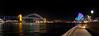 Vivid Festival: Sydney Harbour Panorama from Circular Quay