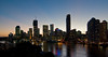 Brisbane River and City Skyline at Sunset