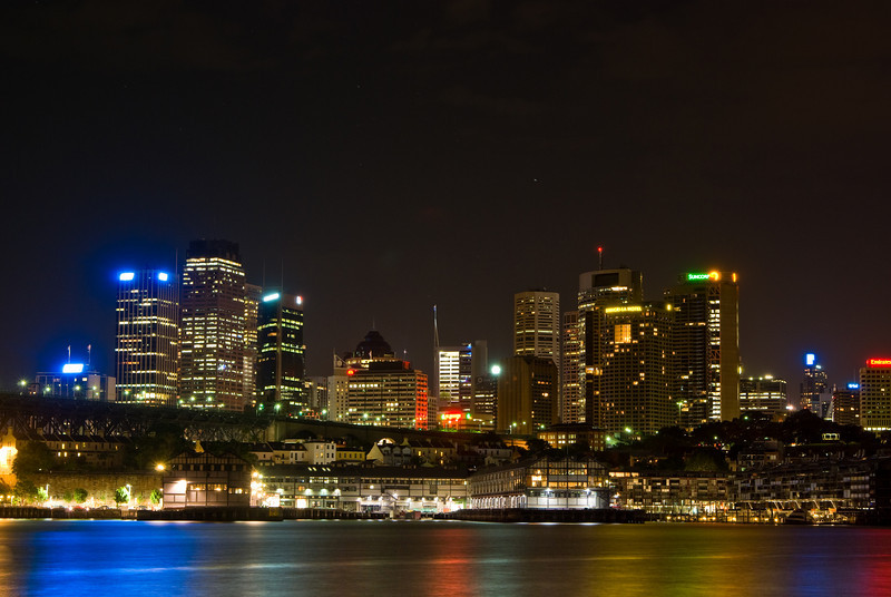 Sydney Nightscape: City, Walsh Bay and King's Wharf - from Blues