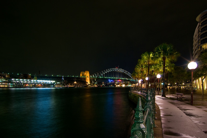 Sydney Harbour and Bridge at Night