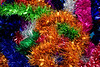 Rainbow Coloured Christmas Tinsel Texture